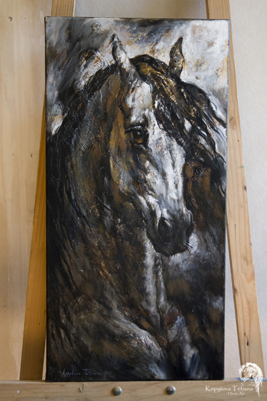 """""""Portrait of a galloping horse"""" (free for sale)"""