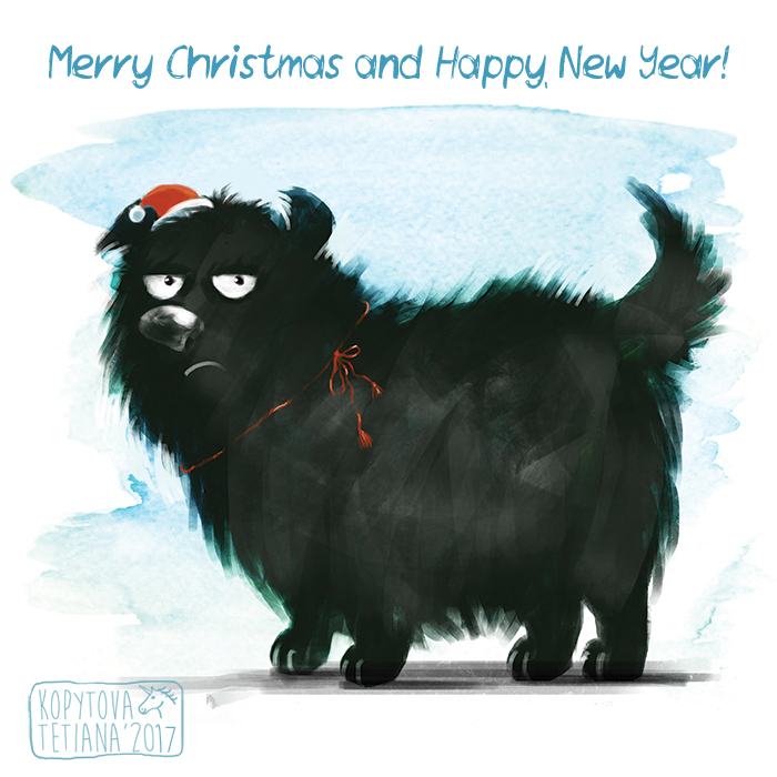 New year and Christmas cards