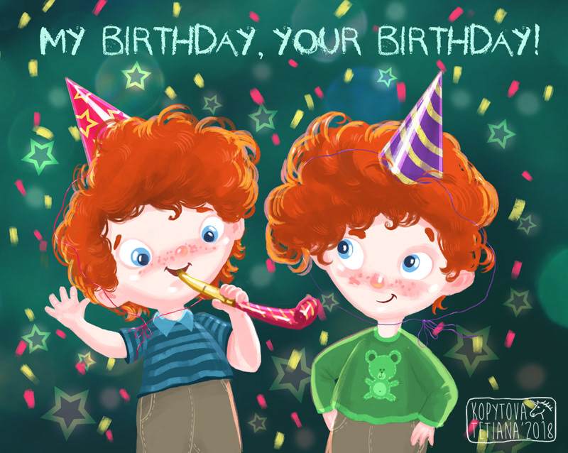 "Children's picture book ""My birthday, your birthday!"""