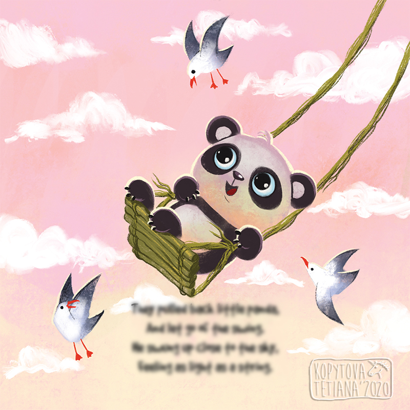 The Panda that wanted to touch the sky